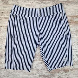 Women's Jofit Bermuda Shorts blue stripes size 8